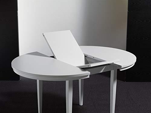Emporio3 - Mesa redonda extensible de madera - Kula