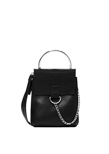 s.Oliver (Bags Damen 39.002.94.2034 Tasche Umhängetasche, Grau (Grey/Black), 3.5x18x17.5 cm