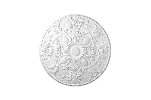 HEXIM Perfect Stuckrosette - Deckenrosette aus PU hartschaum, robust, Zierelement (B3004 - Ø 795 mm) Kronleuchter Umrandung Medaillon Innendekor