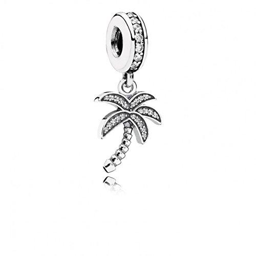 Pandora 791540CZ - Ciondolo da Donna a Forma di Palma, in Argento 925 con zirconi Bianchi