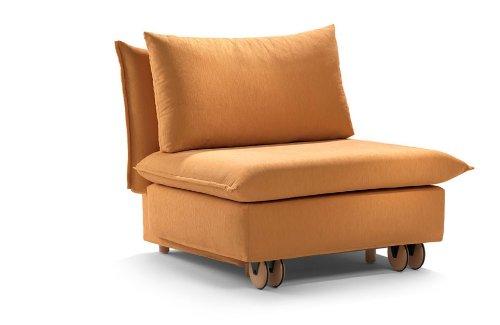 Schlafsessel La Luna, 79x213cm, Sofa mit Schlaffunktion von Signet - orange