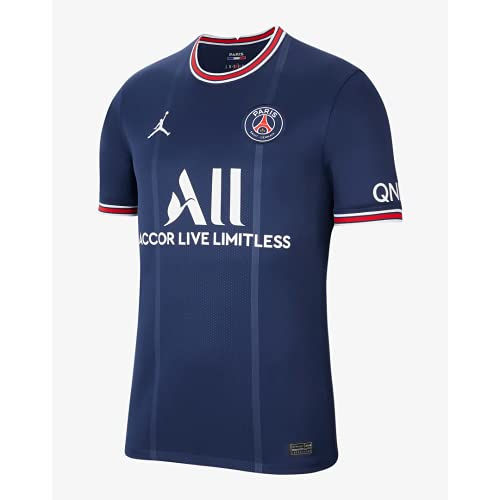 Nike Paris Saint-Germain 2021/22 Stadium Home, T-shirt Homme, midnight navy/university red/white, L
