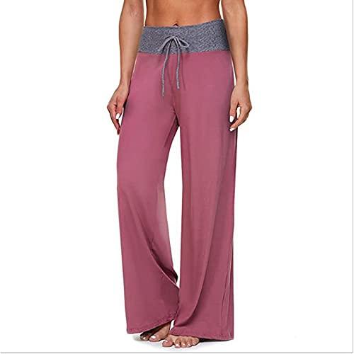 Pantalones de vestir de pierna ancha para mujer Y2k e niña de cintura alta a cuadros Boho 90s Harajuku pantalones elásticos Streetwear, hot pink, XL