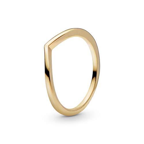 Pandora Jewelry - Polished Wishbone Ring for Women in Pandora Shine, Size 9 US / 60 EU