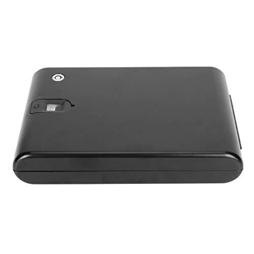 Caja de Seguridad de 120 Huellas Dactilares Caja de Almacenamiento de Joyas para Seguridad en el hogar con Huella Dactilar(275 * 190 * 50 (mm))