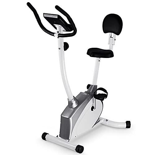 CUN Fitnessclub Heimtrainer, Spinning Bike Mit Schwungrad, Indoor Bike Mit Einstellbarem Widerstand, Heimtrainer Mit Herzfrequenzsensor, LCD