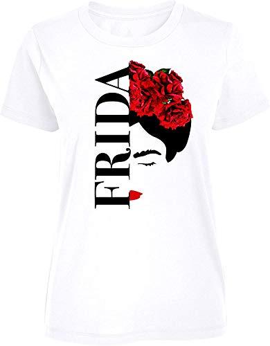 Frida Kahlo - Silhouette - Damen T-Shirt - Weiß, L