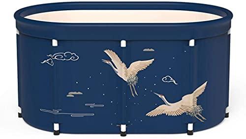RENXR Tragbare Badewanne, Faltbare Badewanne Umweltfreundliche Badewanne Für Duschkabine, Faltbare Badewanne Für Erwachsene,Blau