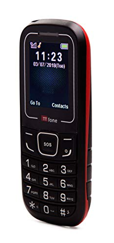 TTfone TT110 téléphone portable GSM urgence SOS basic simple cheapest senior phone - Rouge