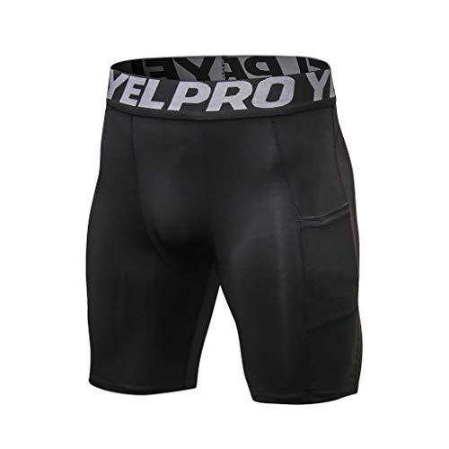 ITISME Short Legging Hommes Sports Compression Formation Collant Musculation Été Short Pantalon Court Élastique Entraînement Slim Fit Workout Fitness Short Pants Running