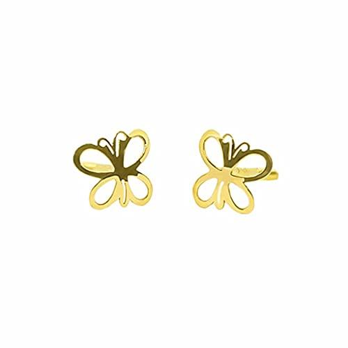 Pendientes Oro Mariposa Calada