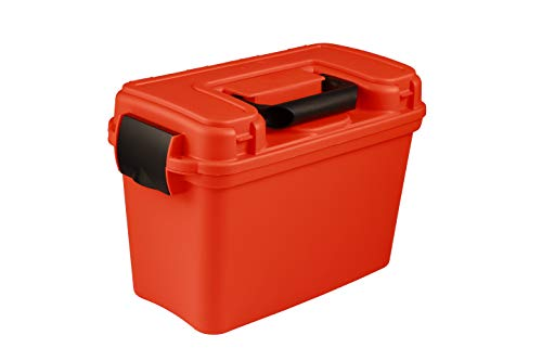 attwood 11834-1 Waterproof Boater's Dry Box, Bright Safety Orange