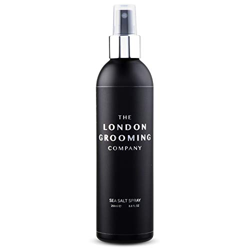 The London Grooming Company Sea Salt Texturizing Spray for Men - Firm Hold and Matte Finish - 8.8 fl oz Water Based Men's Hair Product for Texture and Volume, Easy to Wash Out - Oud Wood Scent