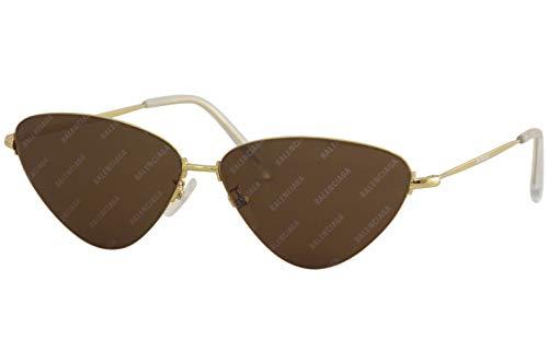 Balenciaga - Occhiali da sole Sunglasses BB0015S 61/12/145 Gold Gold Brown Unisex Uomo Donna Made in Italy