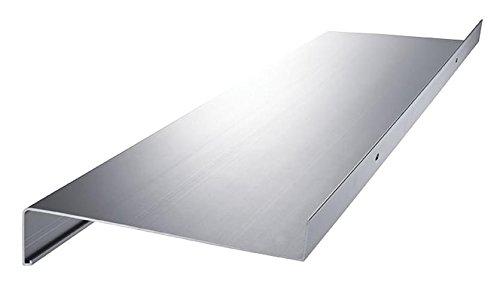 empasa Aluminium Fensterbank Fensterbrett für außen Ausladung 130 mm in verschiedenen Längen weiß, silber, dunkelbronze, anthrazit