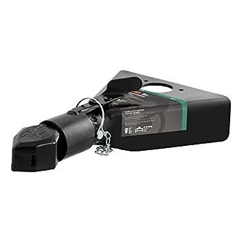 CURT 25217 Black A-Frame Trailer Coupler 2-Inch Hitch Ball 7,000 lbs
