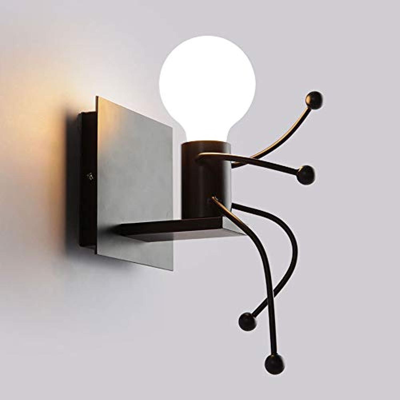 BEDKING E27 Kreative Little Man Wandleuchte Lange Studie Lampe Treppen Taschenlampe Küche Korridor Schlafzimmer Nachttischlampe Restaurant Wohnzimmer Wandleuchte (Gre   One light)