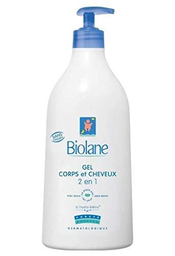 Biolane Gel Corps et Cheveux 2 en 1 Ne Pique Pas Les Yeux 750ml (lot de 3)