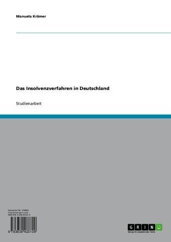 Das Insolvenzverfahren in Deutschland
