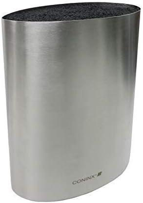 Coninx Saporo Bloc à Couteaux Noir | Revêtement en Inox | Fibres en Plastique | Sans Couteaux | Accessoire de Cuisine...
