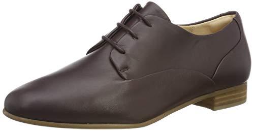 Clarks Damen Pure Mist Derbys, Braun Burgundy Leather, 40 EU
