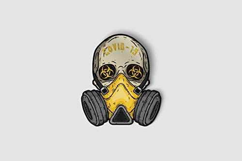 Pro-Graphx Coronavirus COVID-19 Vinyl Stickers for Laptop Car Truck Window Bumper Decor Notebook - Quarantine Self Isolation Logo Vinyl Decals Bumper Graphic Cartoon (2-Pack)
