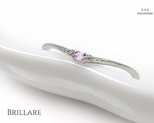 アルマピンクサファイアリングプラチナ指輪誕生石ピンキーサイズ3号【170422w25】