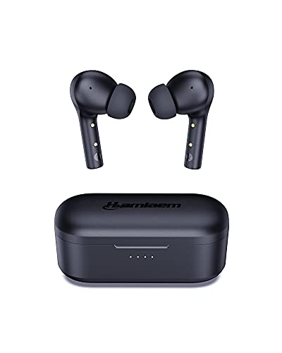 Hamlaem Cuffie Bluetooth 5.2 Senza Fili con Ricarica Wireless, Auricolari Wireless 30 Ore, IPX8 Impermeabili, MEMS Microfoni per la Cancellazione del Rumore, Auto Accoppiamento
