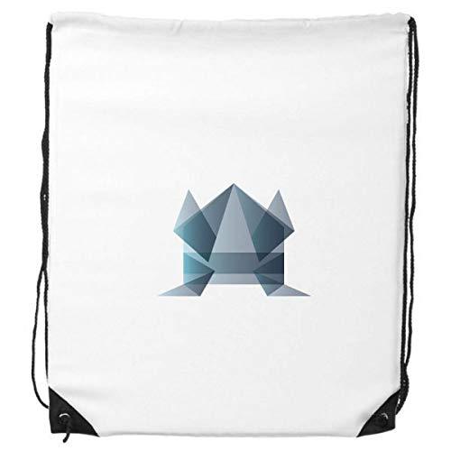 DIYthinker Rana Origami Abstracto Forma geométrica morral del Lazo de Compras Deportes Bolsas de Regalo