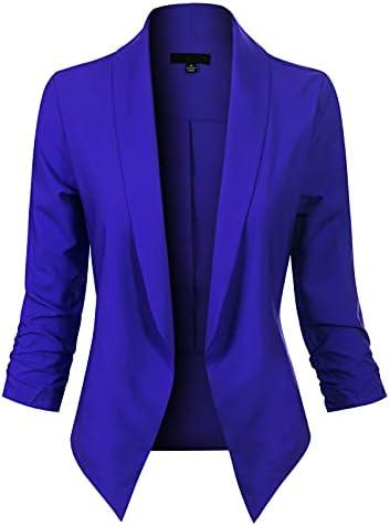 Royal blue blazer women _image3