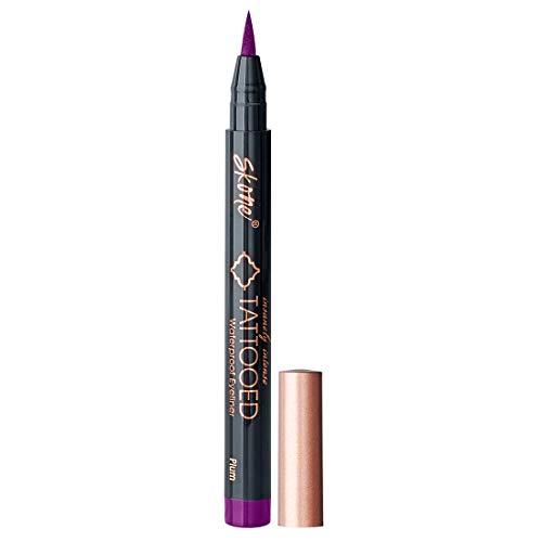 Skone Cosmetics | Insanely Intense Tattooed liquid Eyeliner | Felt Tip Applicator | Waterproof | Smudge proof | Sweat Proof | long lasting formula | Color - Plum