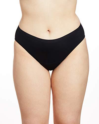 Speax by Thinx Bikini Women's Underwear for Bladder Leak Protection, Black, XXX-Large