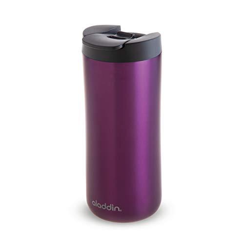 Aladdin Leak-Lock Thermavac Stainless Steel Travel Mug 0.35L Lila – Auslaufsicherer Thermobecher - Doppelwandige Vakuumisolierung - Hält 3 Stunden Heiß - BPA-Frei - Spülmaschinenfest