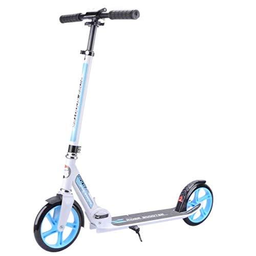 Umit Rider Patinete de Aluminio, Juventud Unisex, Blanco/Azul, Mediano