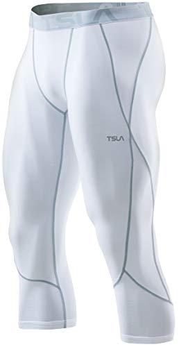 (テスラ)TESLA コンプレッションパンツ 7分丈 [UVカット・吸汗速乾] コンプレッション 夏用 アンダーウェア MUC38-WHZ_L