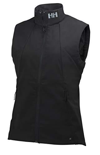 Helly Hansen W Paramount Softshell Vest, Mujer, Negro, M