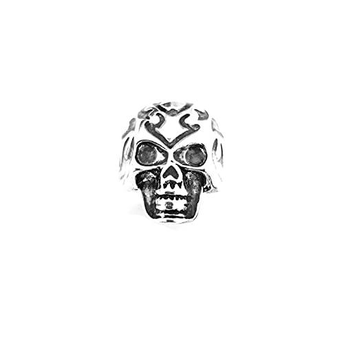 WEARRR Hip Hop Street Ajustable Roca Punk gótico gótico Luminoso Brillo Luminoso en los Anillos de cráneo Oscuro for Hombres Halloween (Main Stone Color : 2b, Ring Size : Resizable)