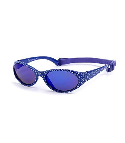 Kiddus Sonnenbrille Kids Comfort Junge und Mädchen. Alter 2 bis 6 Jahre. Total Flexible Modell für Extra Komfort. Mit Band und sehr Resistent. 100% UV-Schutz. Nützliches Geschenk (Surf blau)