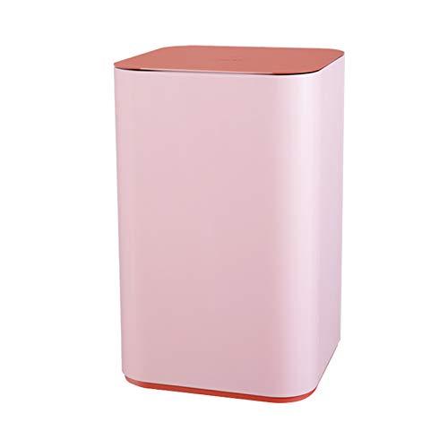 Papeleras Pink Fashion Smart Bash Bote 16L Dormitorio de inducción creativa Bote de la basura de la sala de estar de la sala de estar con la tapa, use la batería 4AA (no incluida) bote de basura