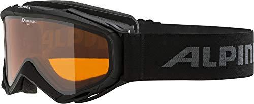 ALPINA SPICE D Skibrille, Unisex– Erwachsene, black, one size