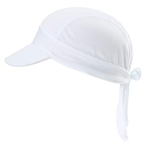 HASAGEI Sports Bandana Cap Herrem Damen Biker Bandanas Kopftuch Hat - B-Weiß