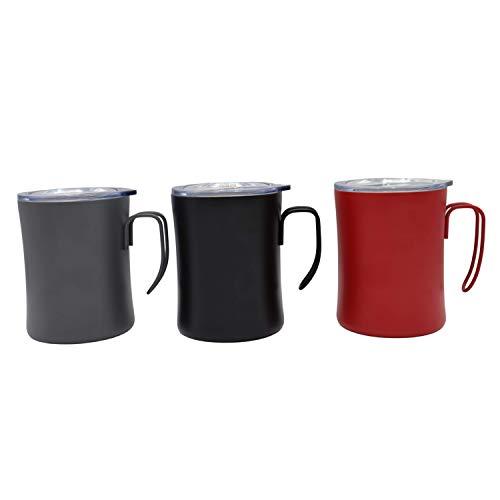 Brissa España. Taza Termo Cafe para Llevar. 350 ml. Tazas Originales. Vaso Térmico Café, Té, Infusiones. Taza de Acero Inoxidable. (Gris)