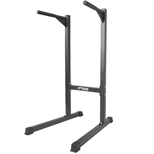 Titan Heavy Duty Dip Stand Freestand Station Fitness Workout 500 lb