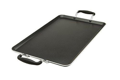 "Ecolution Double Burner Griddle Artistry Non-Stick Cookware, 12"" x 18, Black"