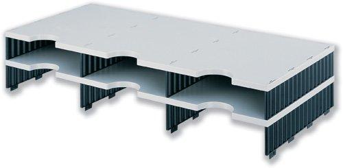 Styro Modular Sortieren System Erweiterung 6Fächer W723X D331X h153mm grau und schwarz Ref 268–1302.98