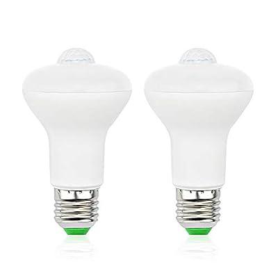 Bonlux BR30 Motion Sensor Light Bulb, 5W BR30 LED Flood Light Bulbs R63 Light Bulb, E26 Motion Sensor LED Light Bulb 50W Halogen Replacement for Porch, Garage, Basement, Daylight 6000K, 2-Pack