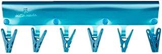 TT WARE PVC Travel Hanger Waterproof Folding Clothes Rack Clips Multifunction Clothes Peg-Blue