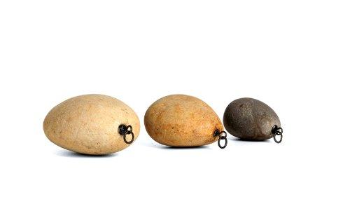 Pallatrax 3 x Swivel Stonze Natural Stone Fishing Weights - Multi Coloured, Small/Medium/Large (Mixed) - Stone Fishing Sinker - Non Toxic