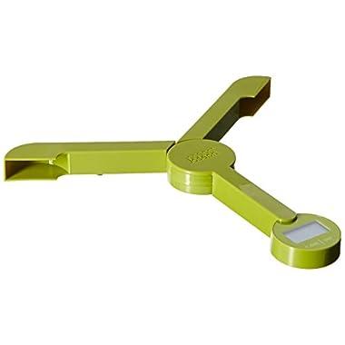 Joseph Joseph 40072 TriScale Compact Folding Digital Kitchen Food Scale, Green