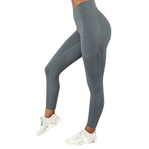 SHOBDW Pantalones Mujer Sólido Push Up Leggings Medias Cint